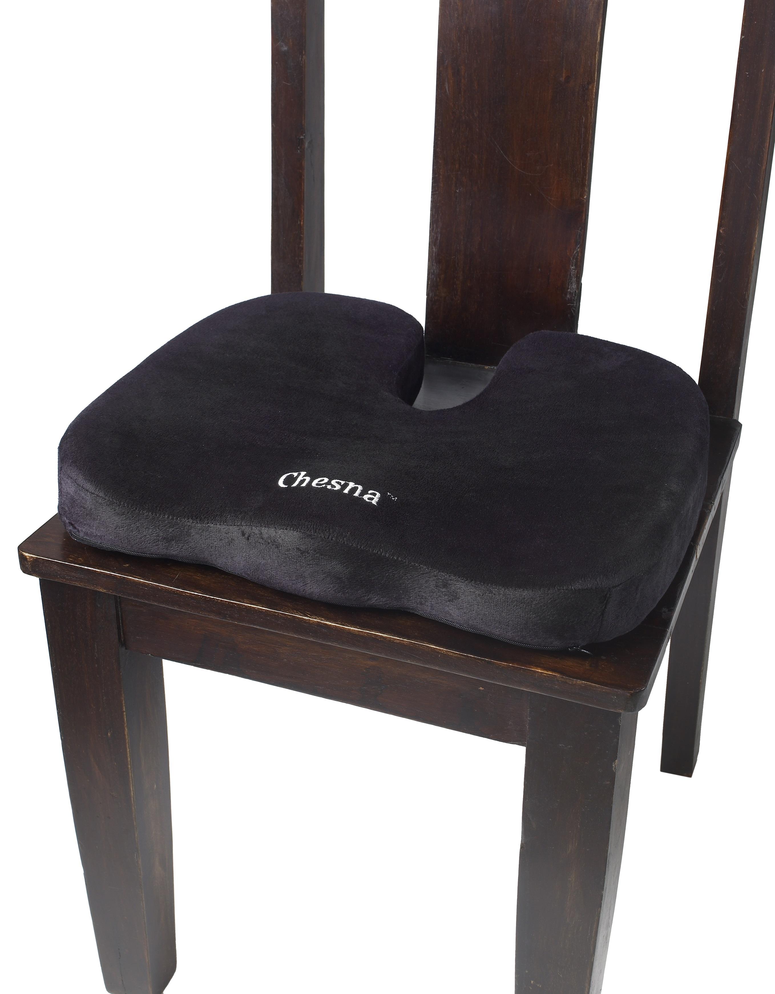 Comfort Foam Seat Pillow U2013 Black