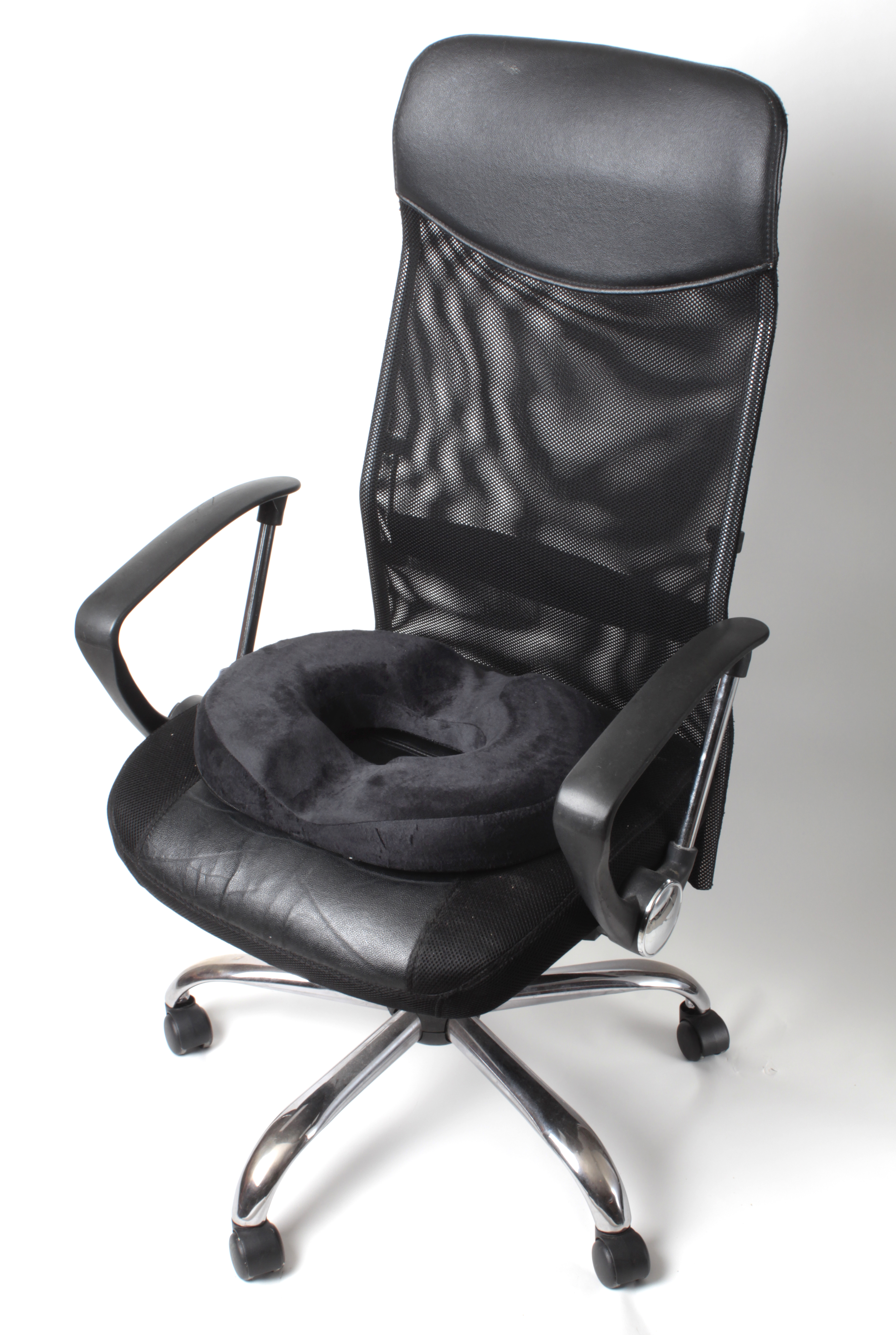 Black Donut Office Chair